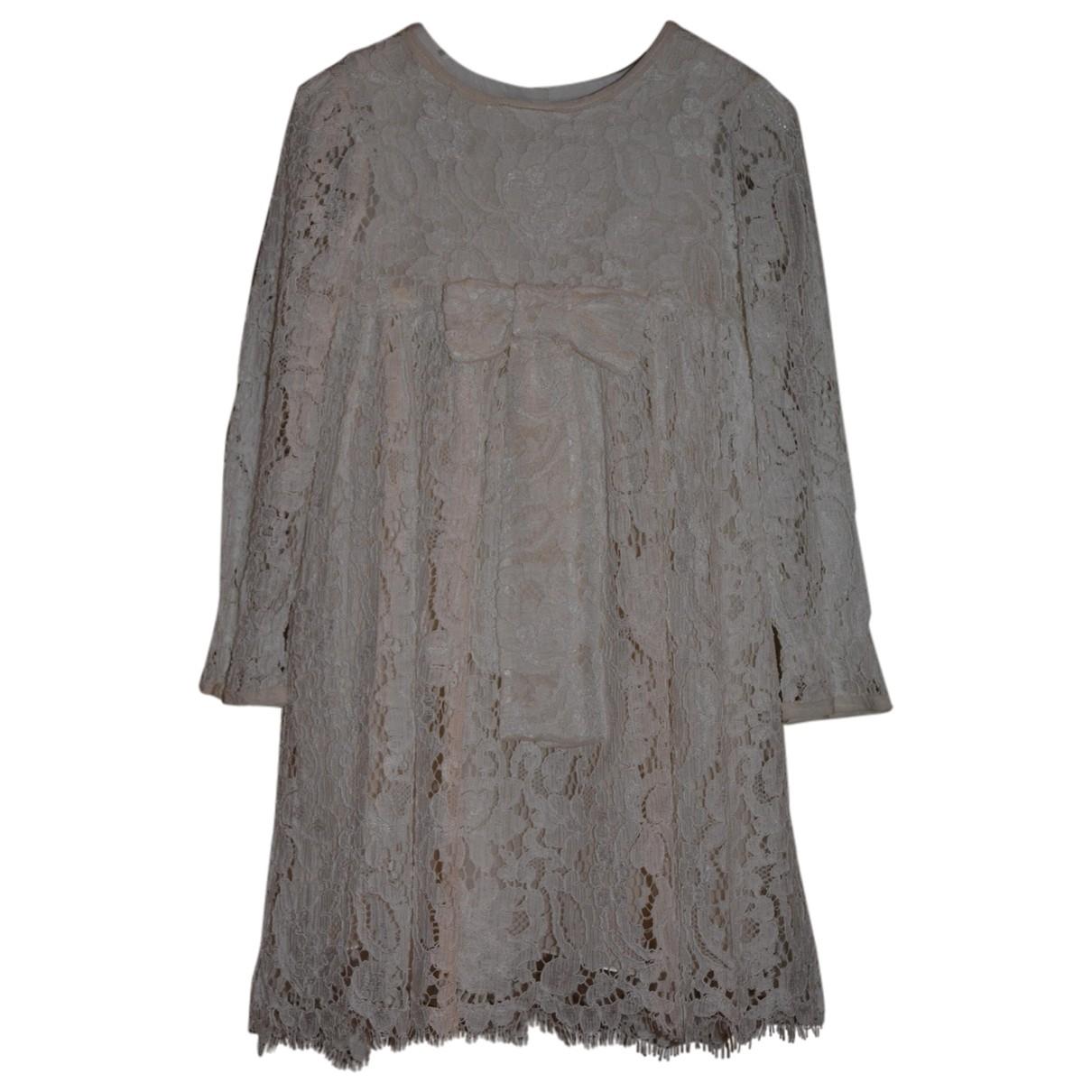 Dolce & Gabbana \N Kleid in  Ecru Viskose