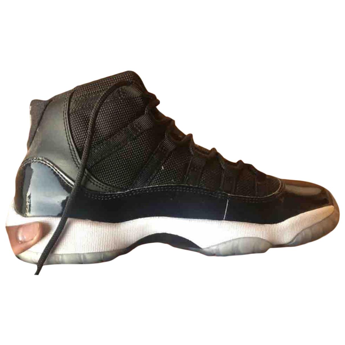 Jordan - Baskets Air Jordan 11 pour femme en cuir verni - noir