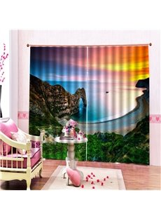 3D Print Ultraviolet-Proof Curtains 200g ㎡ Thick Polyester Heat Insulation and Water-proof Absolutely Wrinkle-free Integrated Printing Without Ever Fa