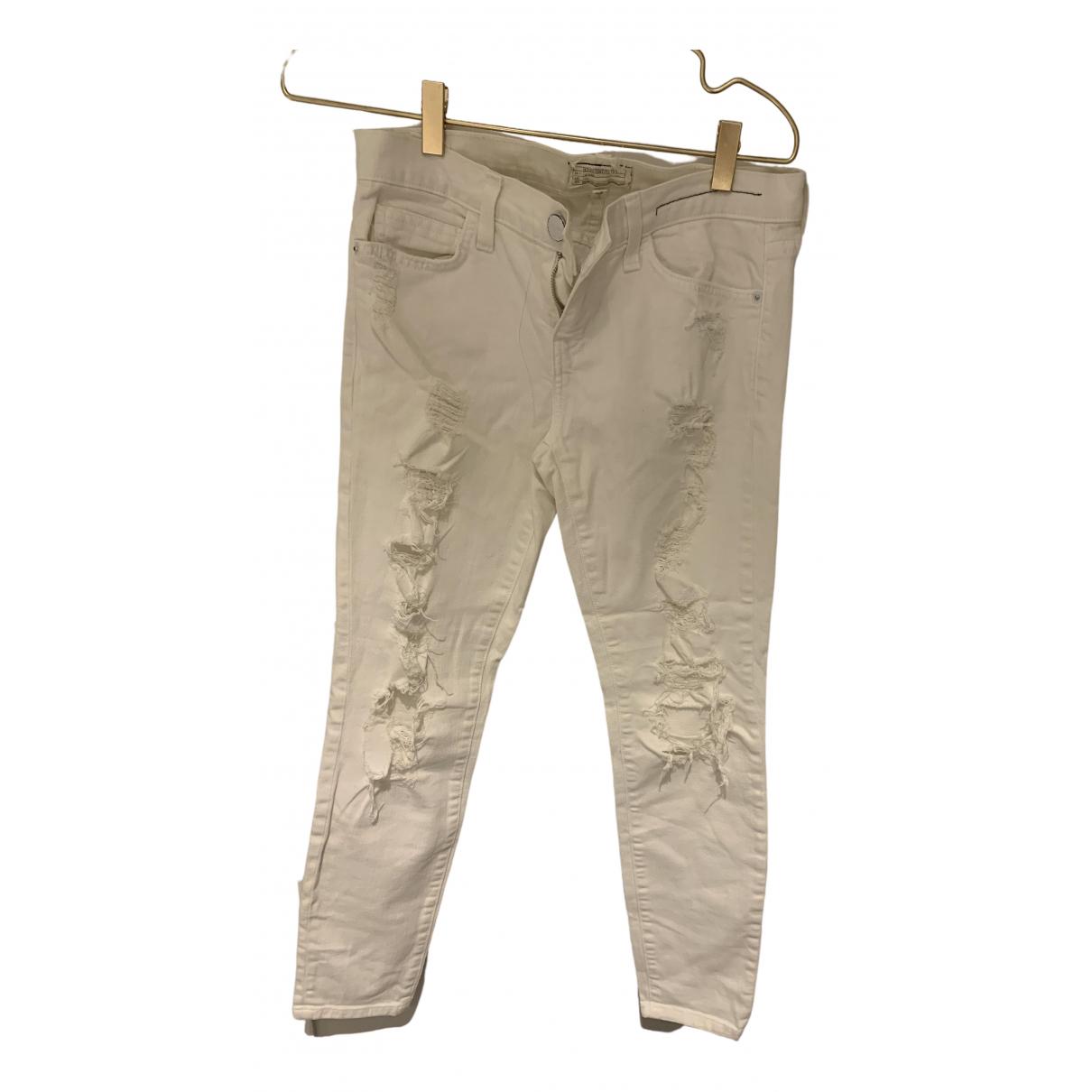 Current Elliott \N White Denim - Jeans Jeans for Women 26 US