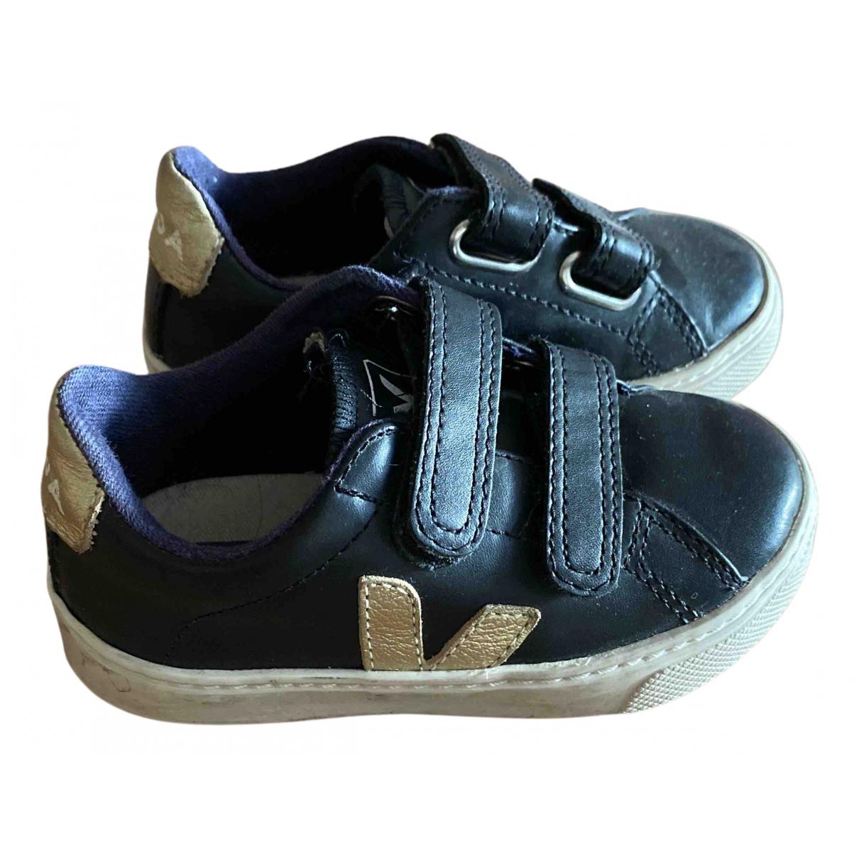 Veja - Baskets   pour enfant en cuir - noir