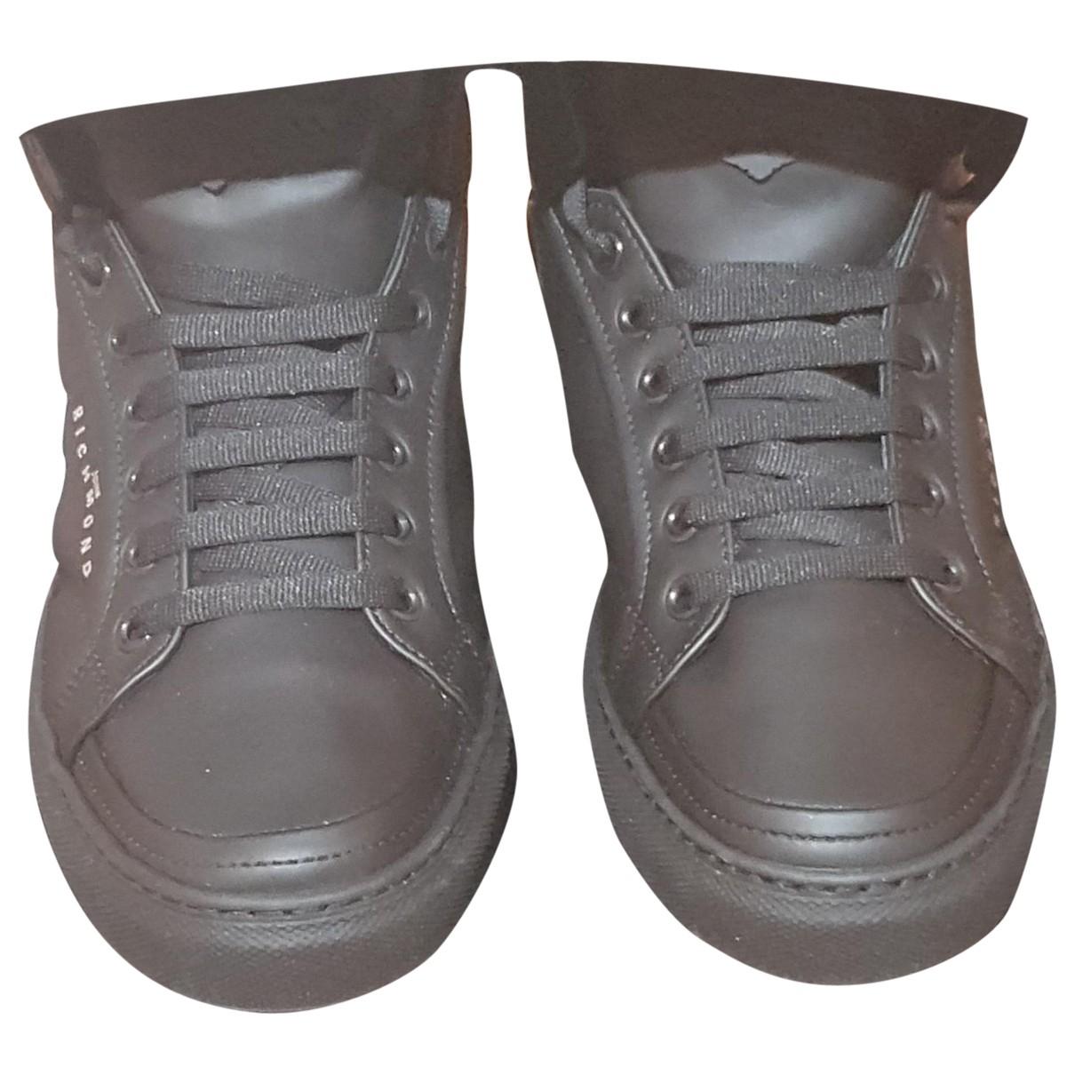 John Richmond - Baskets   pour homme en cuir - noir