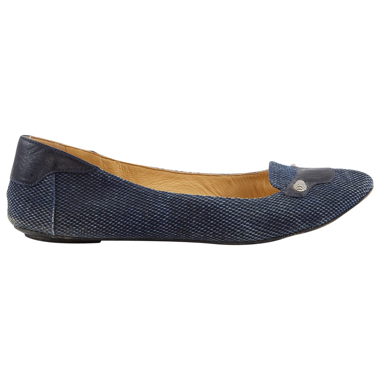 Balenciaga N Navy Cloth Ballet flats for Women 41 EU