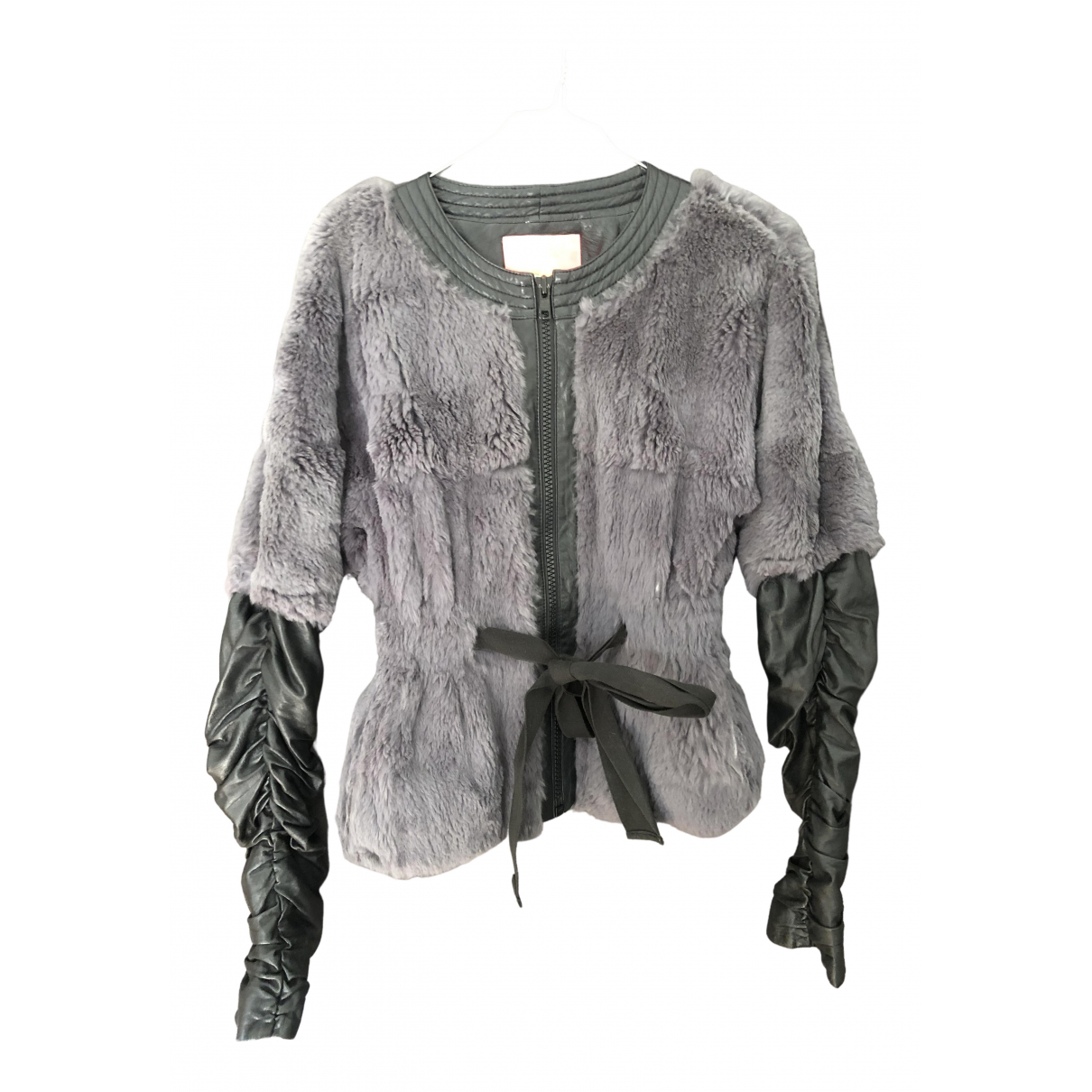 Manoush \N Grey Rabbit Leather jacket for Women 36 FR