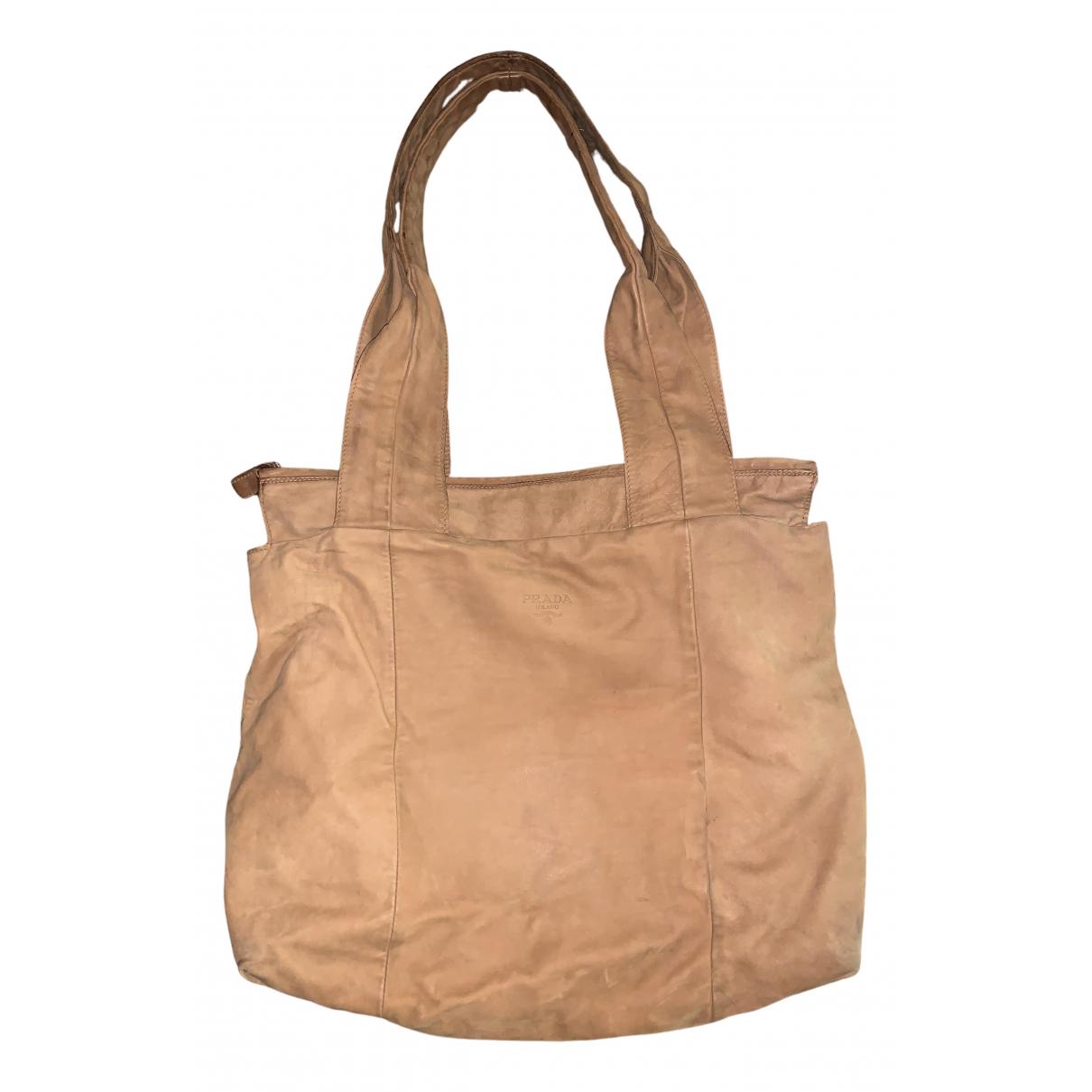 Prada \N Handtasche in  Kamel Veloursleder