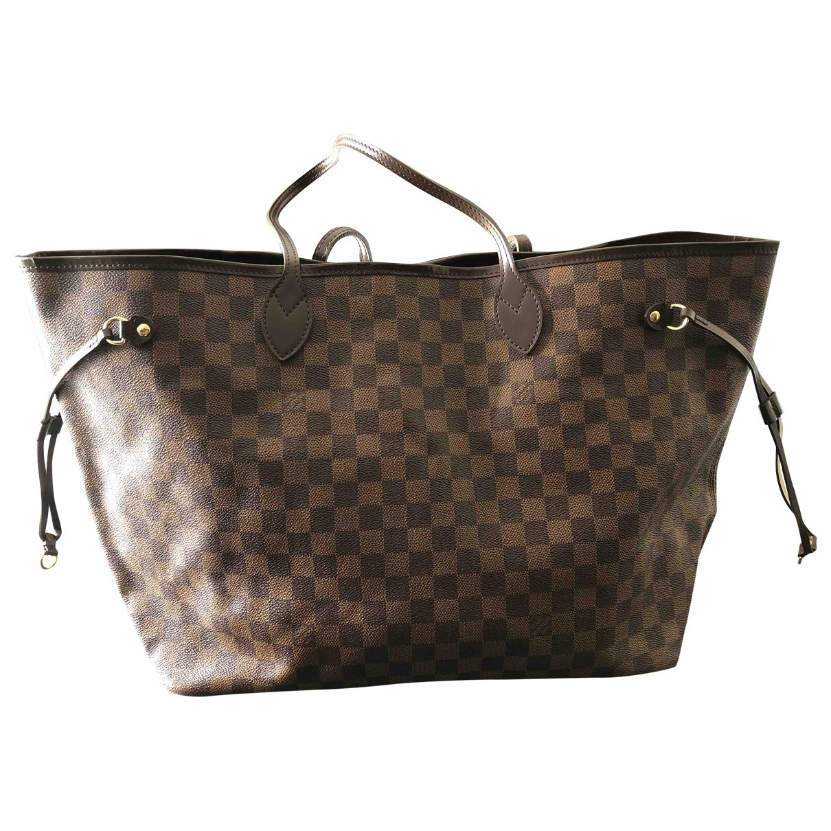 Louis Vuitton - Sac a main Neverfull pour femme en toile - marron