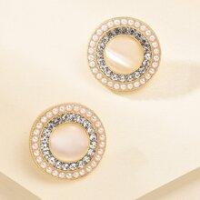 1pair Faux Pearl Stud Earrings