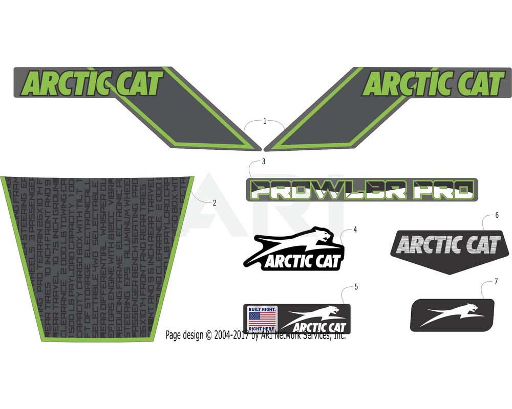 Arctic Cat OEM 7411-490 Decal Hood Crest