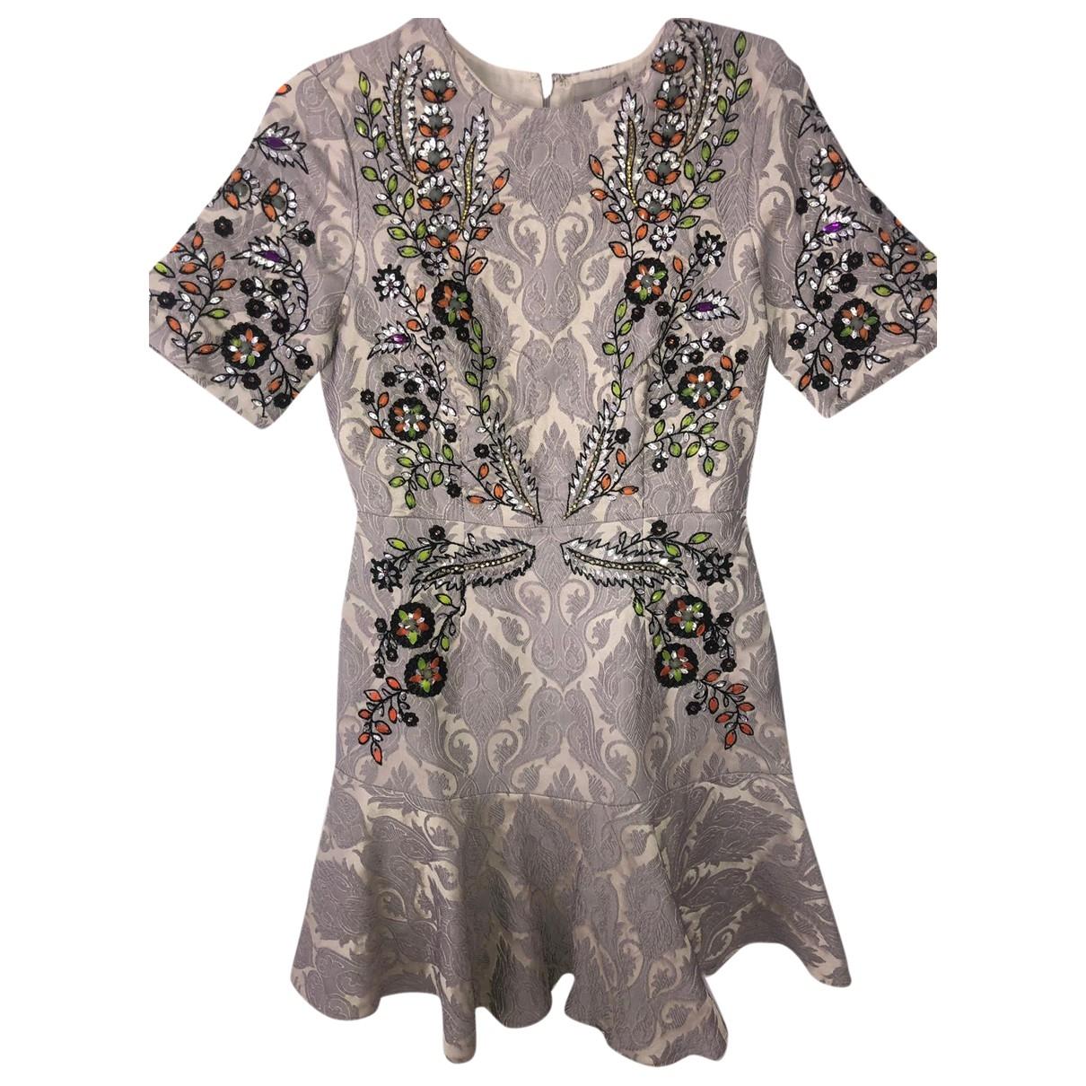 Asos \N Kleid in  Grau Baumwolle - Elasthan