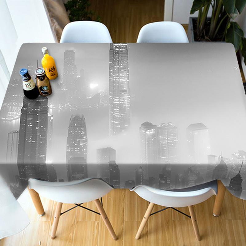 Kitchen Birthday Decoration Realistic Design 3D Tablecloth