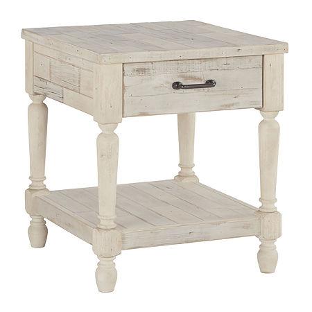 Signature Design by Ashley Shawnalore Rectangular End Table, One Size , White