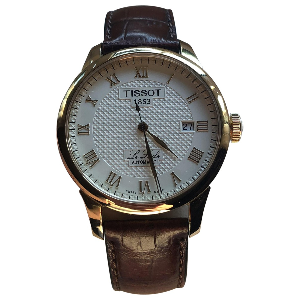 Tissot \N Gold Gold plated watch for Men \N