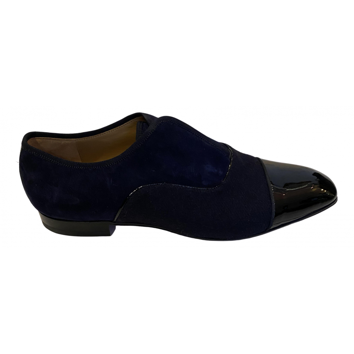 Christian Louboutin \N Black Suede Flats for Men 44 EU