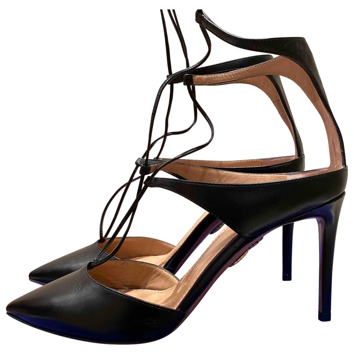 Altuzarra \N Black Leather Heels for Women 38 EU