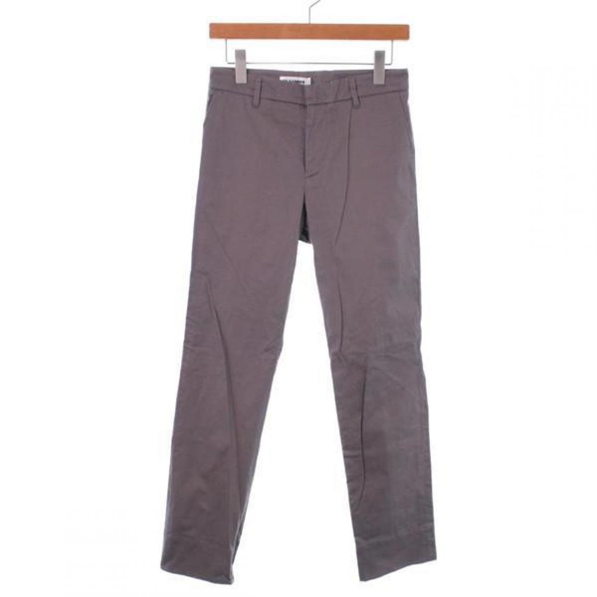 Jil Sander \N Grey Cotton jacket for Women 36 IT