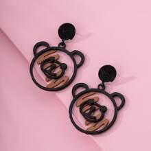 Girls Bear Drop Earrings