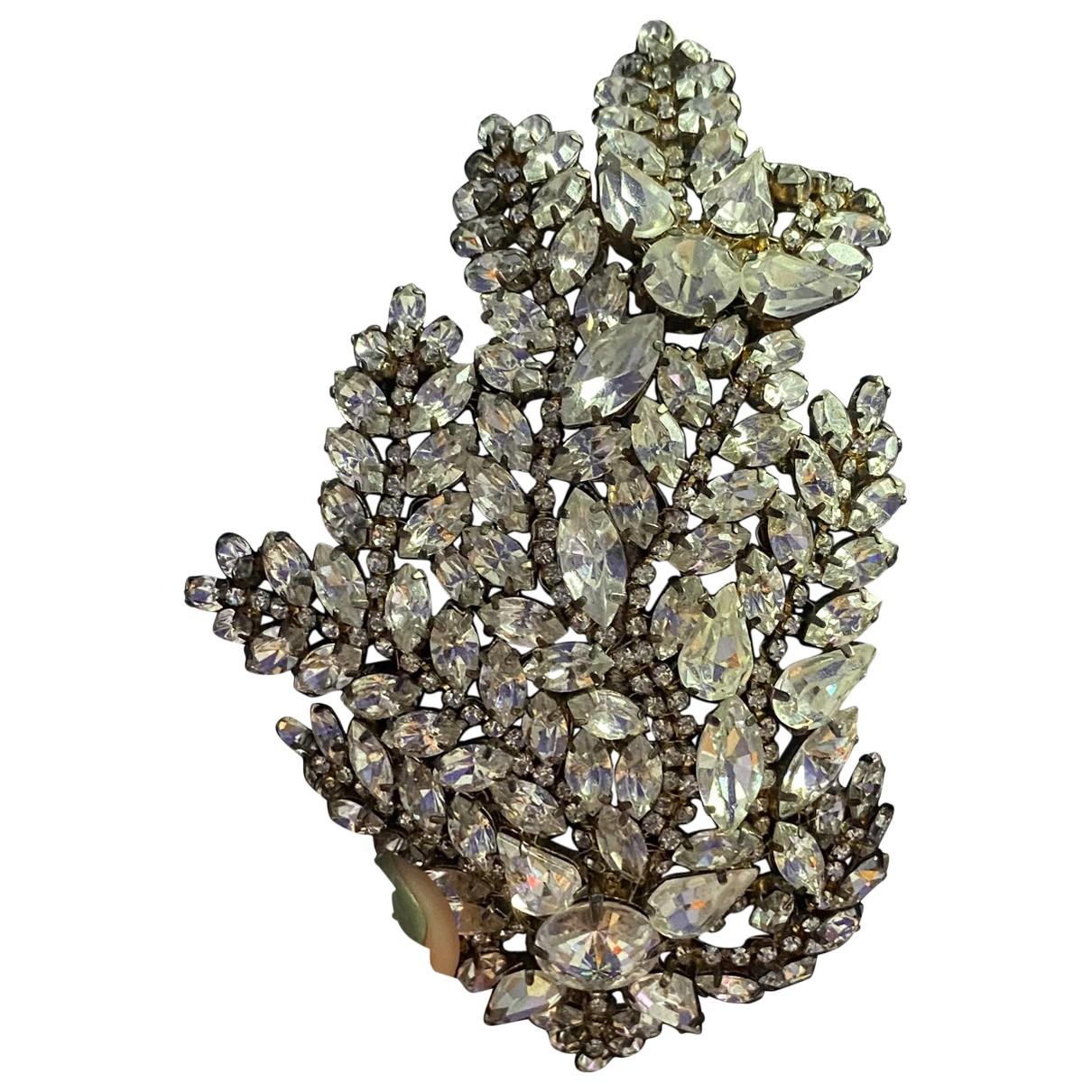 Jenny Packham \N Haarschmuck in  Grau Kristall