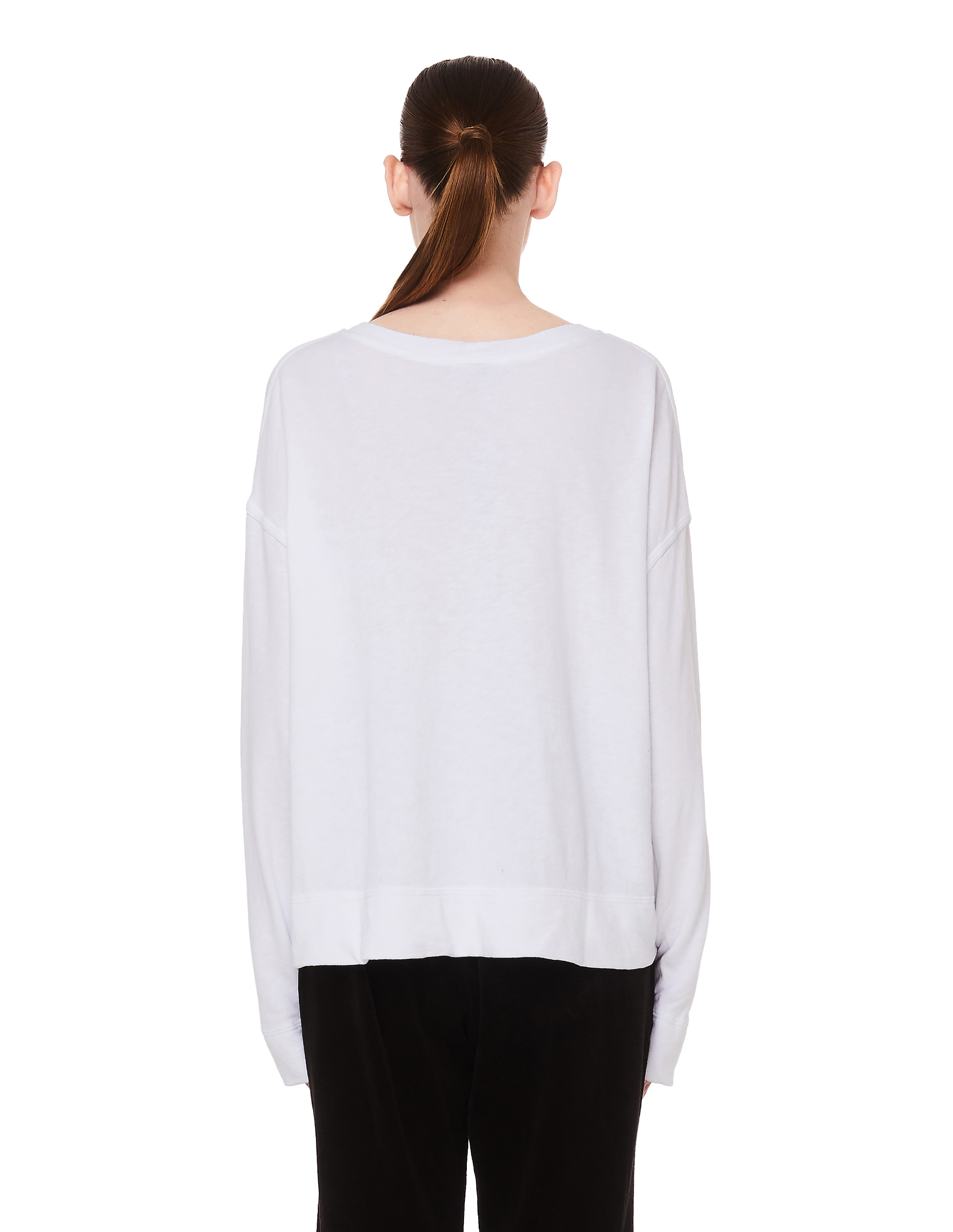 James Perse White Cotton Cropped Sweatshirt