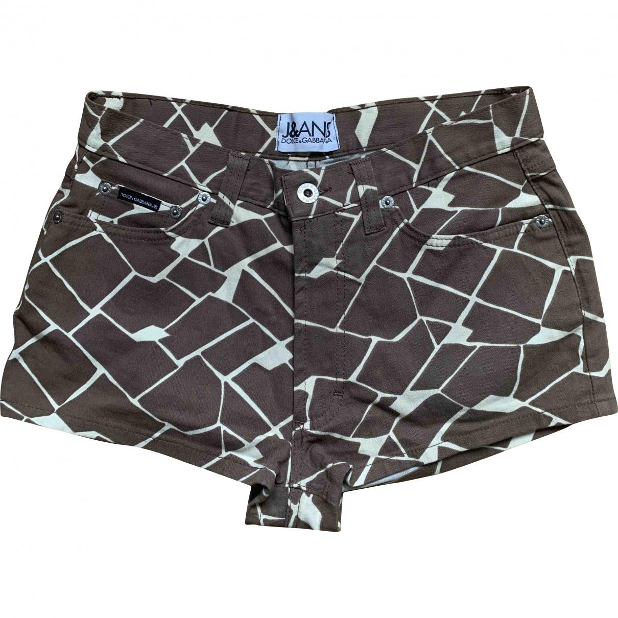 Dolce & Gabbana \N Shorts in  Braun Baumwolle