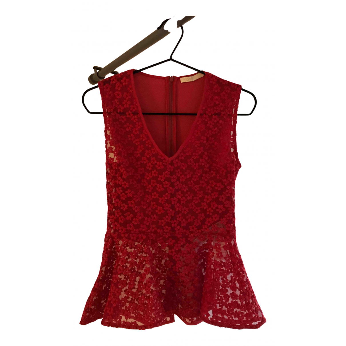 Maje N Red  top for Women 32 FR