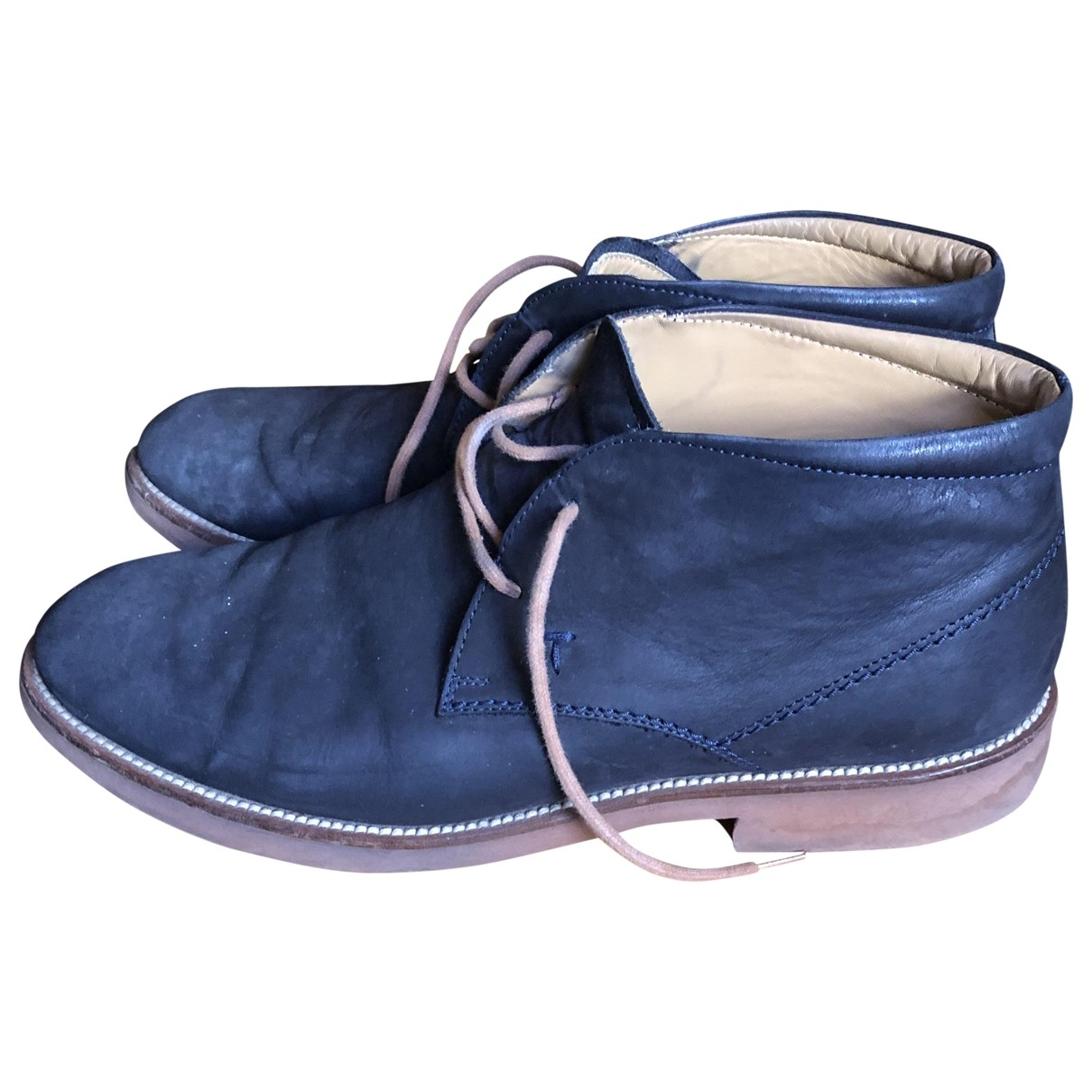 Tods \N Stiefel in  Marine Leder