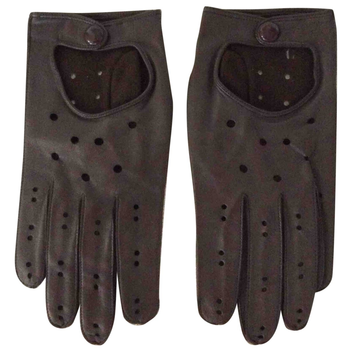 Non Signé / Unsigned \N Brown Leather Gloves for Men L International
