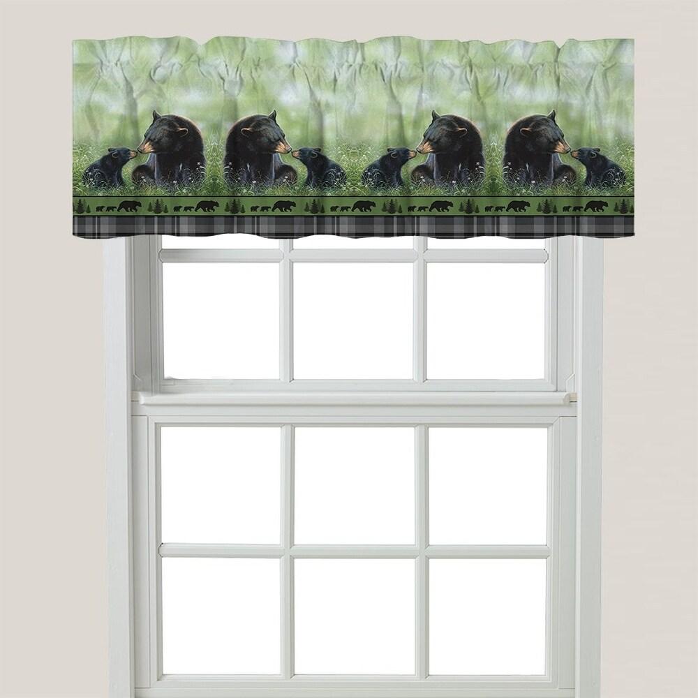 Loving Bears Window Valance - S (Green)