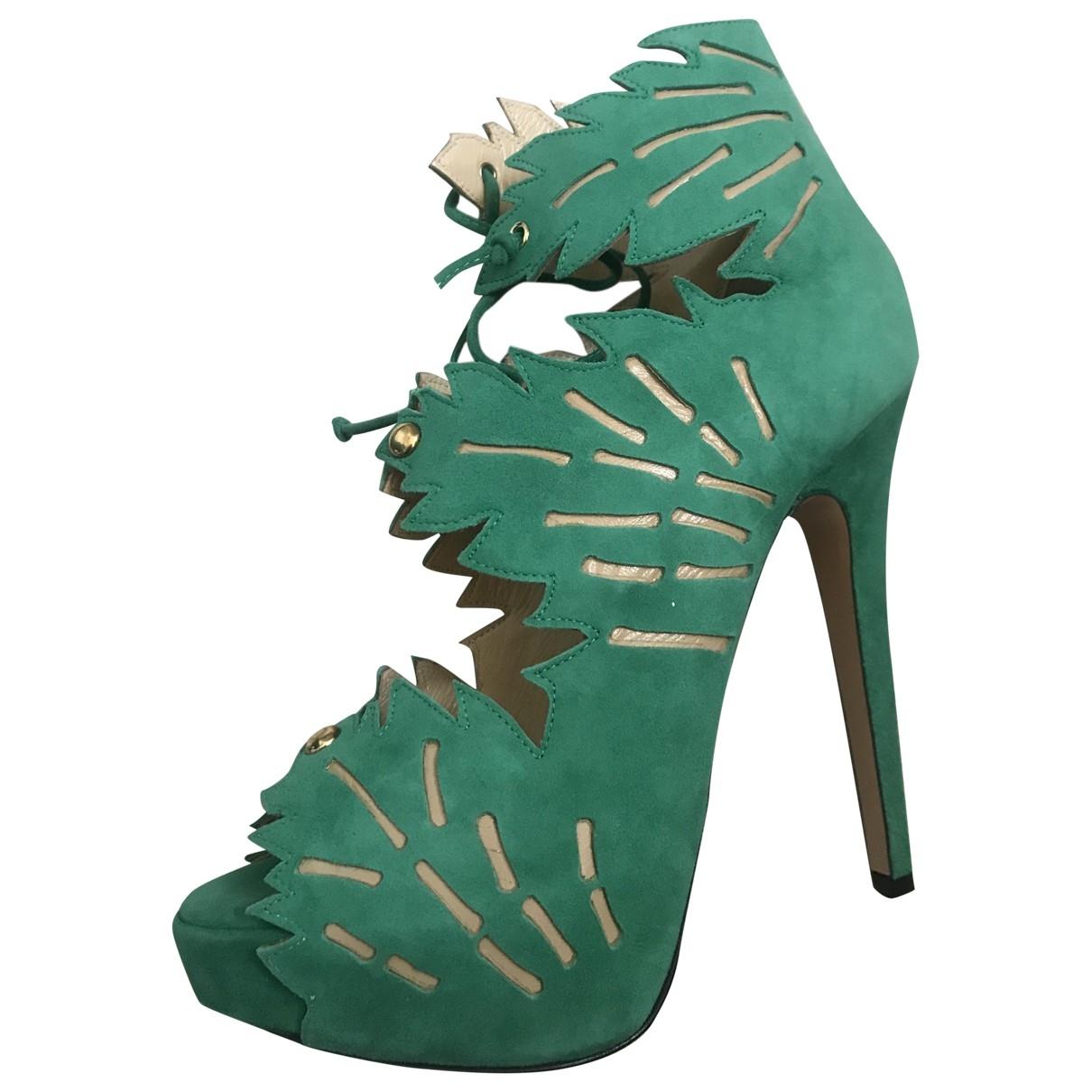 Charlotte Olympia - Sandales   pour femme en suede - vert