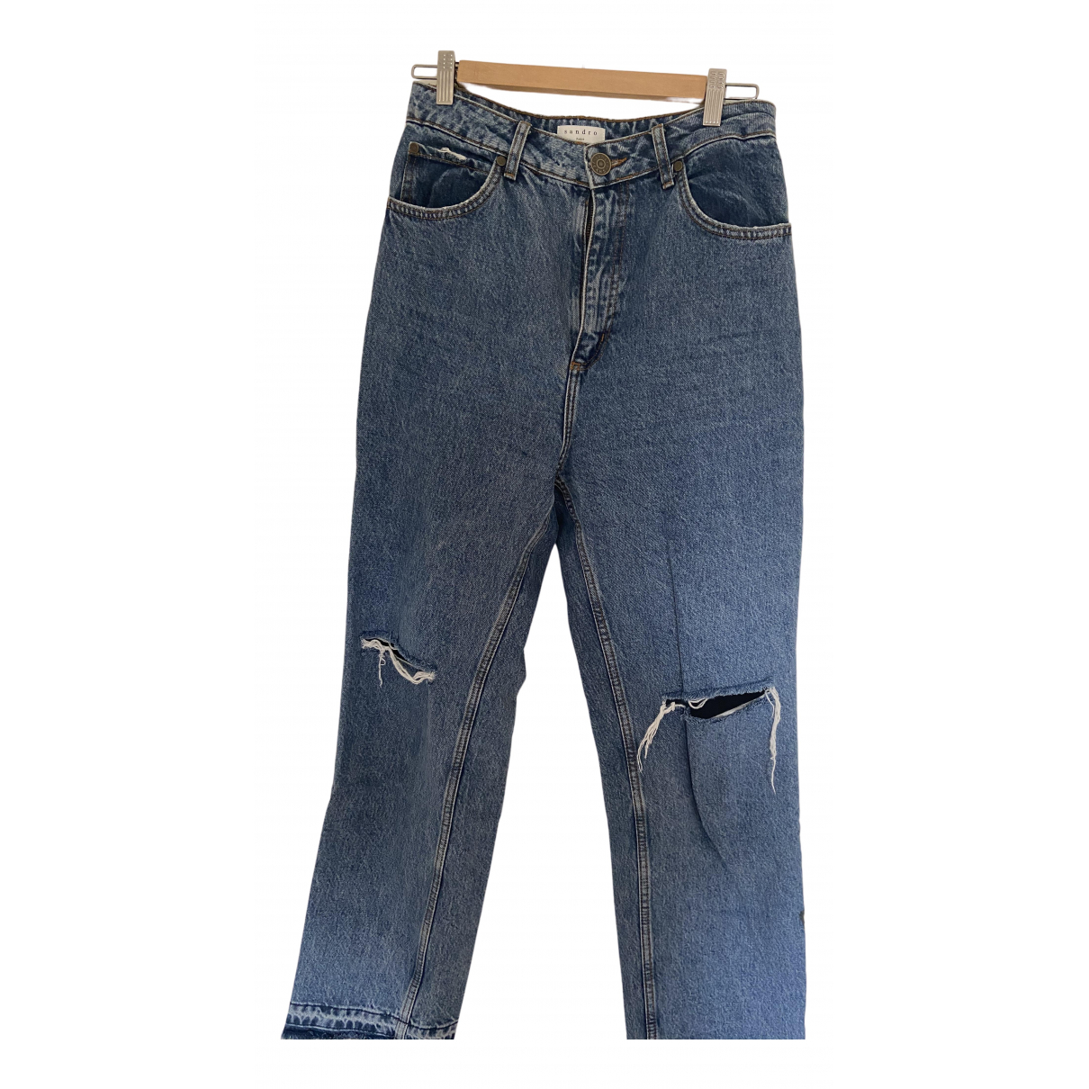 Sandro Fall Winter 2019 Blue Denim - Jeans Jeans for Women 38 FR