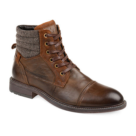 Vance Co Mens Everett Chukka Boots Block Heel, 11 Medium, Brown