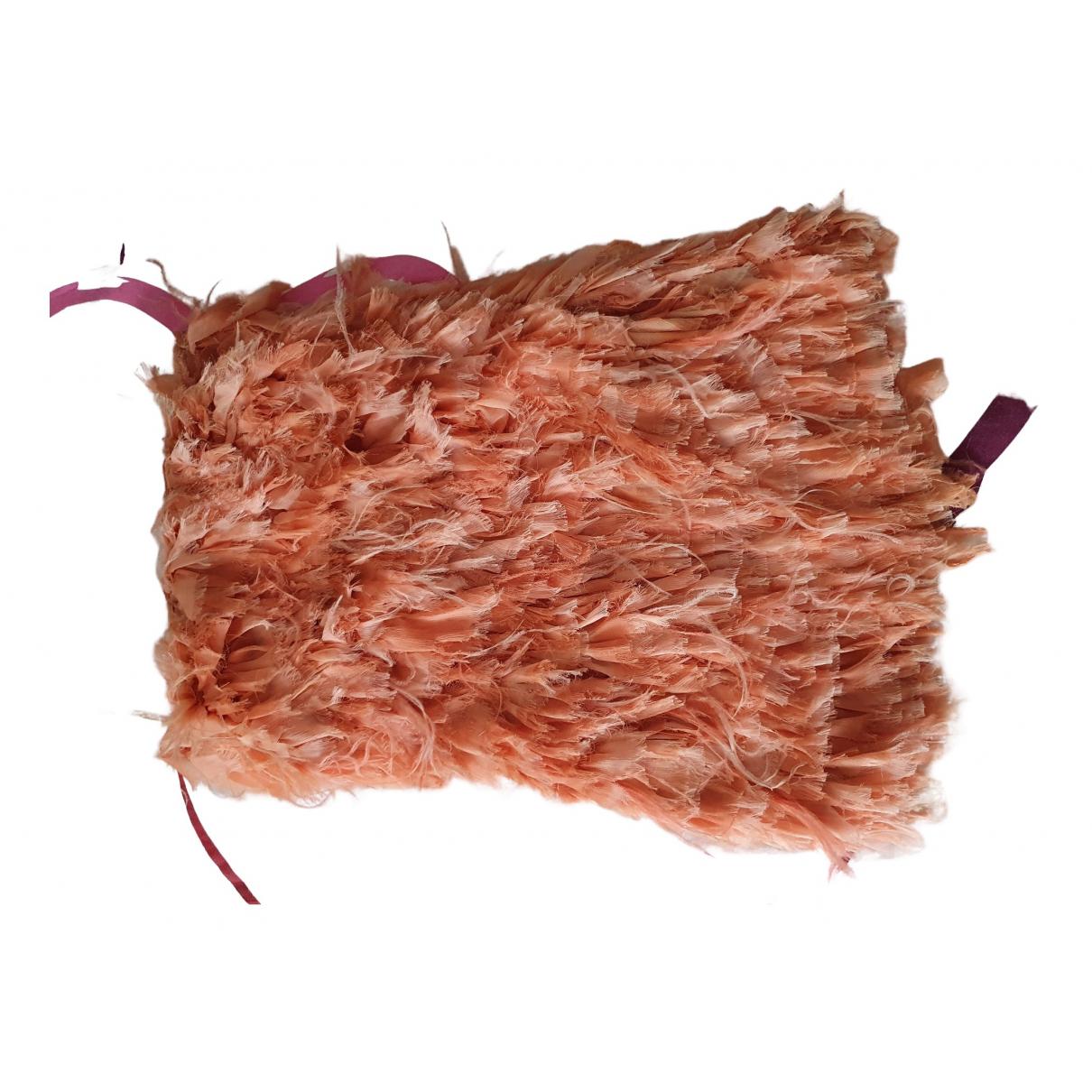 Elisabetta Franchi - Robe   pour femme en fourrure - orange