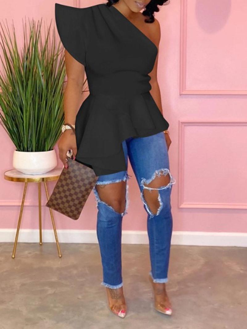 Ericdress Regular Mid-Length Short Sleeve Women's Blouse
