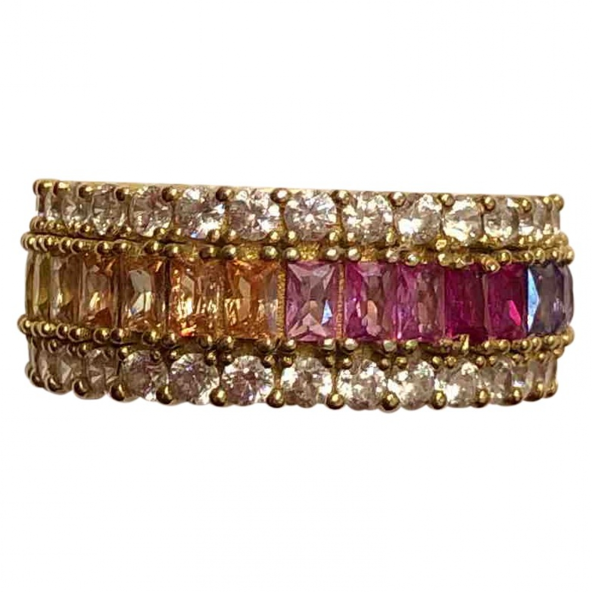Non Signé / Unsigned \N Multicolour Gold plated ring for Women 8 US