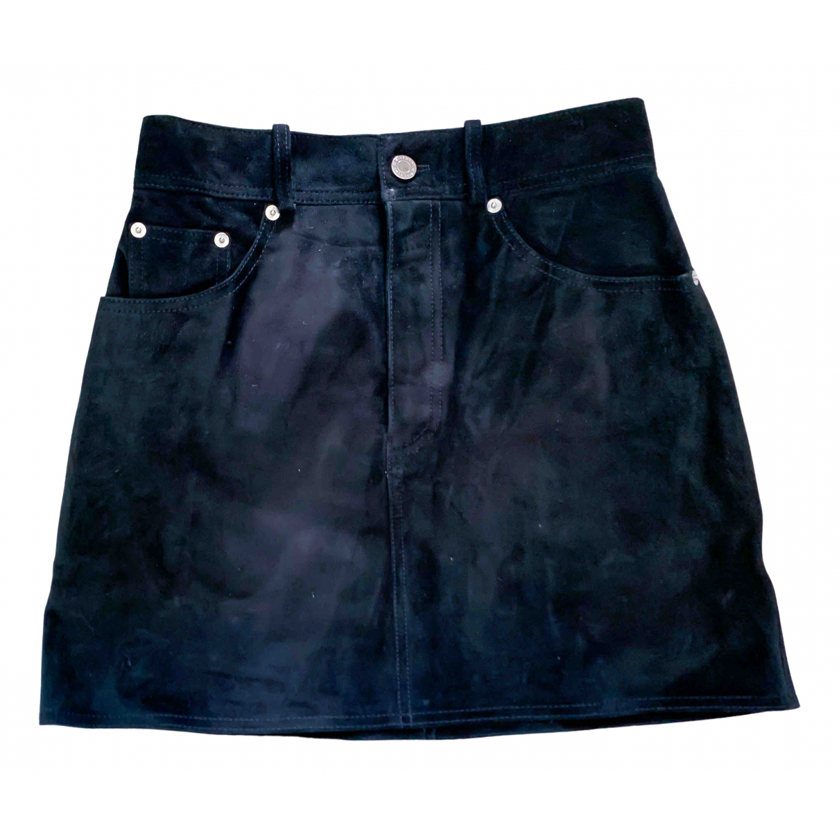 Givenchy \N Black Leather skirt for Women 34 FR
