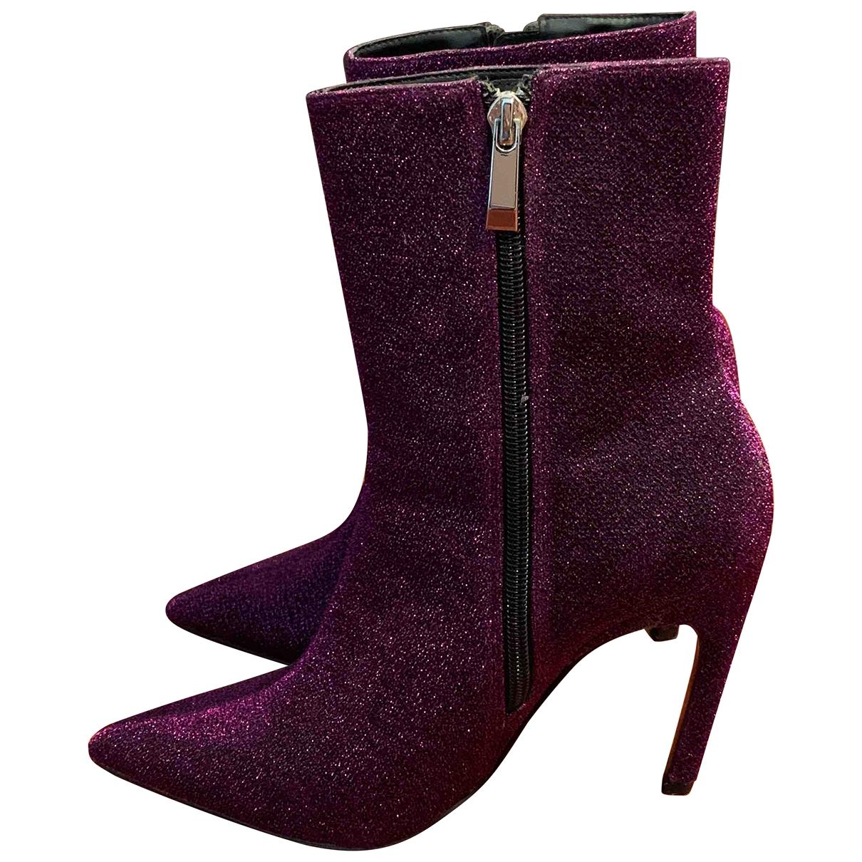 Zara - Boots   pour femme - violet