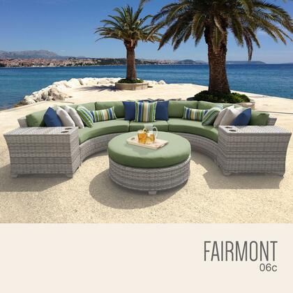 FAIRMONT-06c-CILANTRO Fairmont 6 Piece Outdoor Wicker Patio Furniture Set 06c with 2 Covers: Beige and