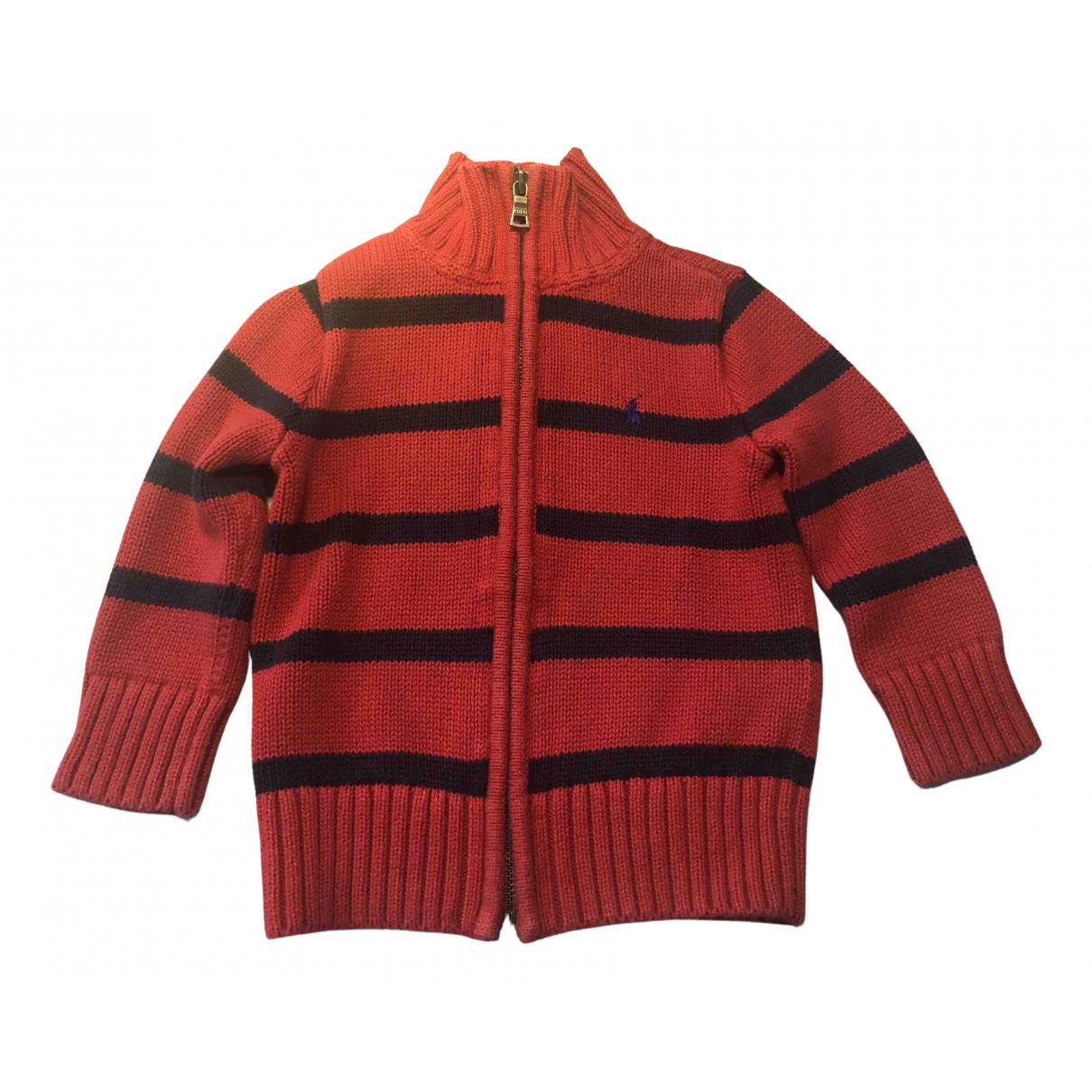 Polo Ralph Lauren \N Pullover, StrickJacke in  Rot Baumwolle