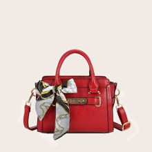 Handtasche mit Twilly Schal Dekor