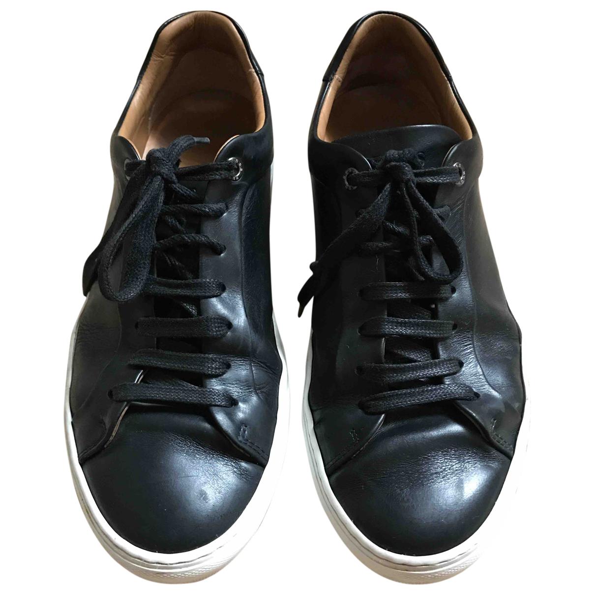 Boss - Baskets   pour homme en cuir - noir