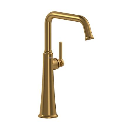 Momenti MMSQL01LBG-10 Single Hole Lavatory Faucet with L Lever Handle 1.0 GPM  in Brushed