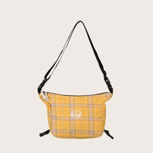 Girls Plaid Crossbody Bag