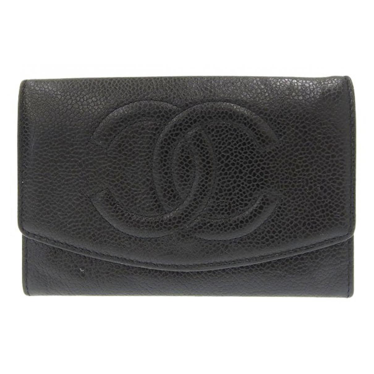 Chanel \N Portemonnaie in  Schwarz Leder