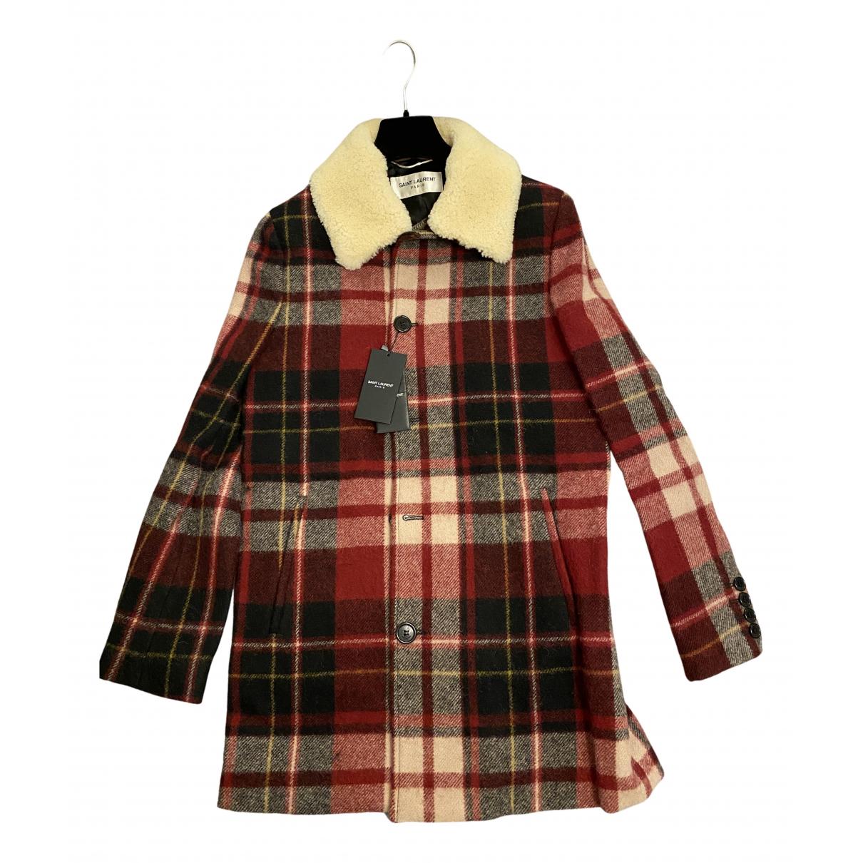 Saint Laurent - Manteau   pour homme en laine - rouge