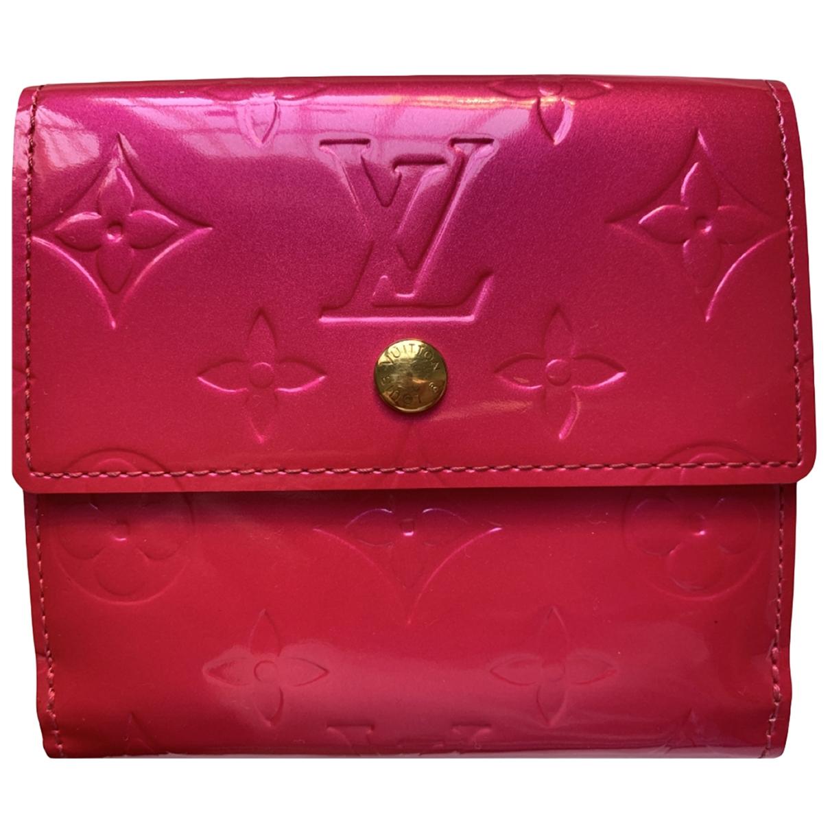 Louis Vuitton \N Portemonnaie in  Rosa Lackleder