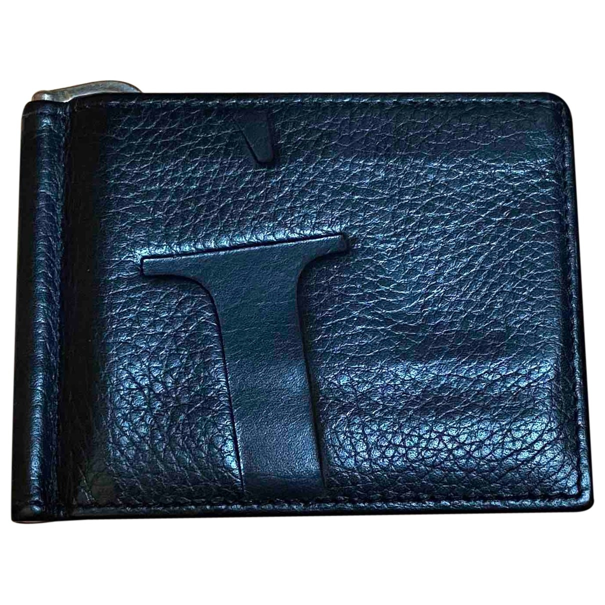 Guess \N Black Leather Small bag, wallet & cases for Men \N