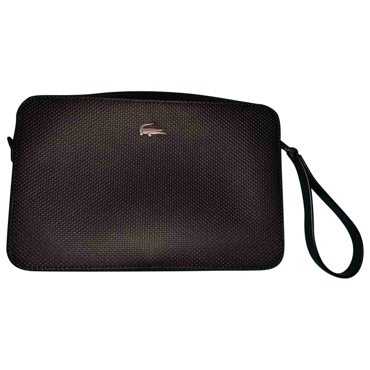 Lacoste \N Black Leather Small bag, wallet & cases for Men \N