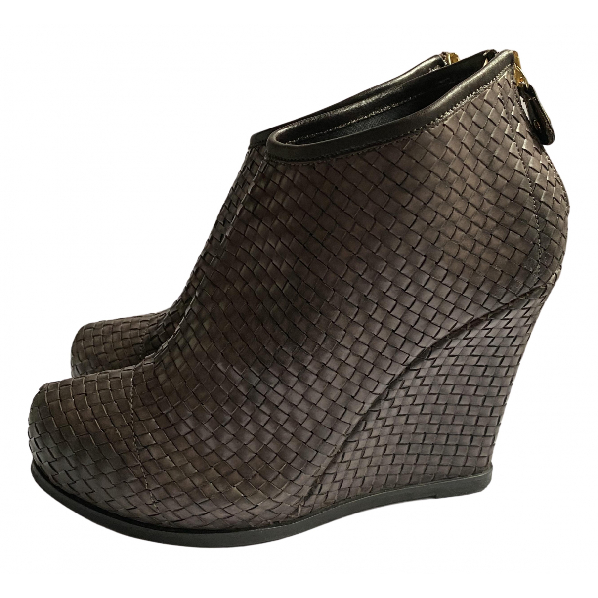 Twin Set N Leather Ankle boots for Women 39 IT