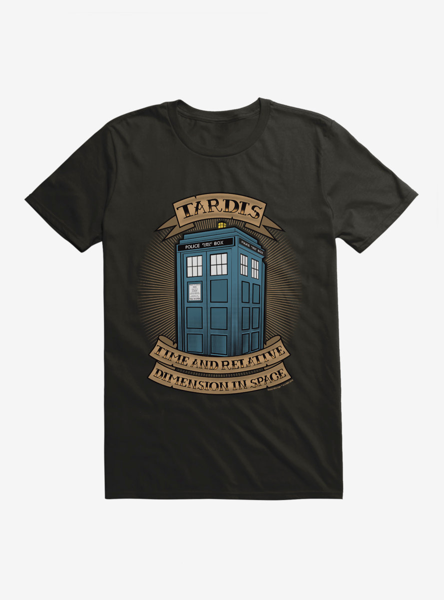Doctor Who TARDIS Acronym Banner T-Shirt