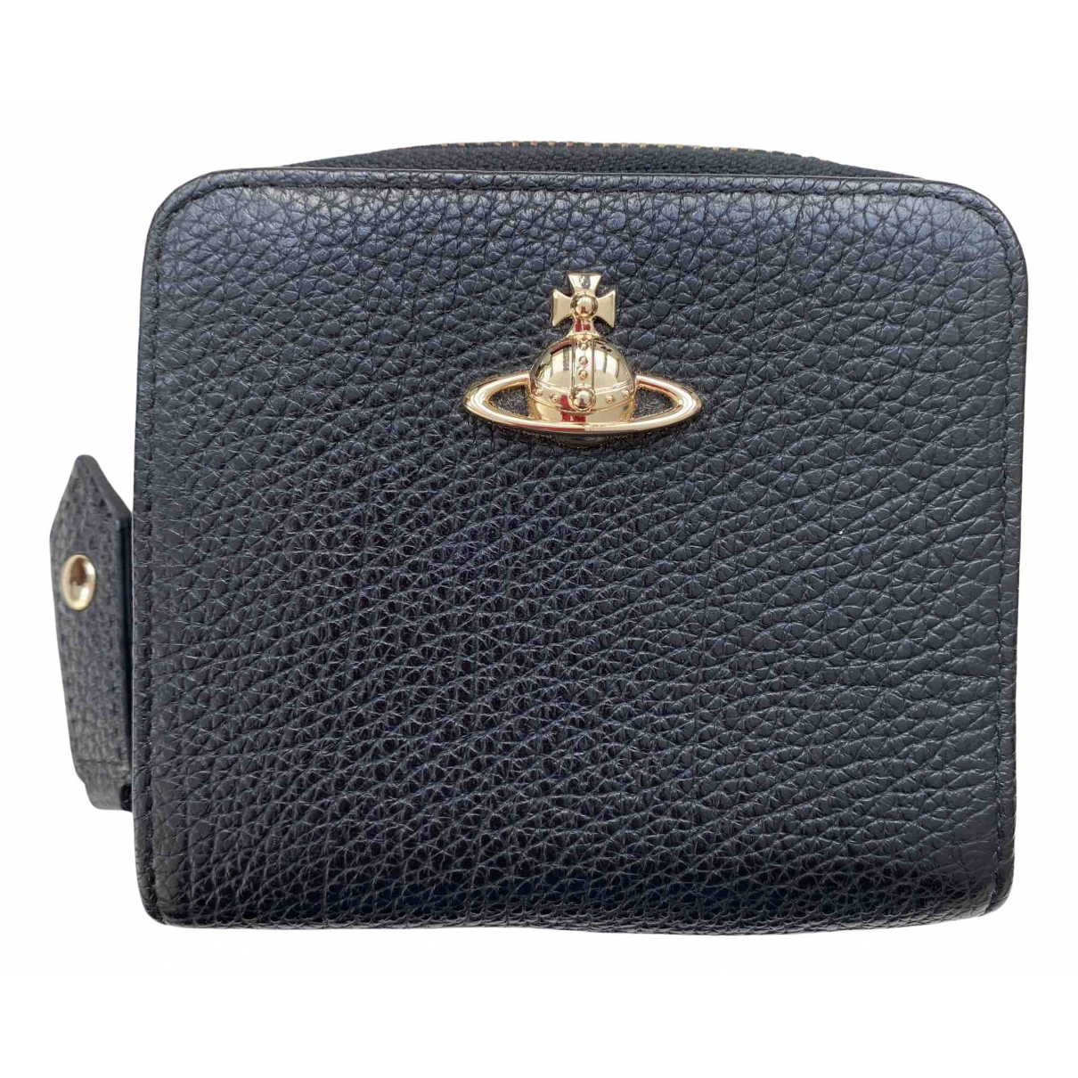 Vivienne Westwood \N Black Leather Small bag, wallet & cases for Men \N