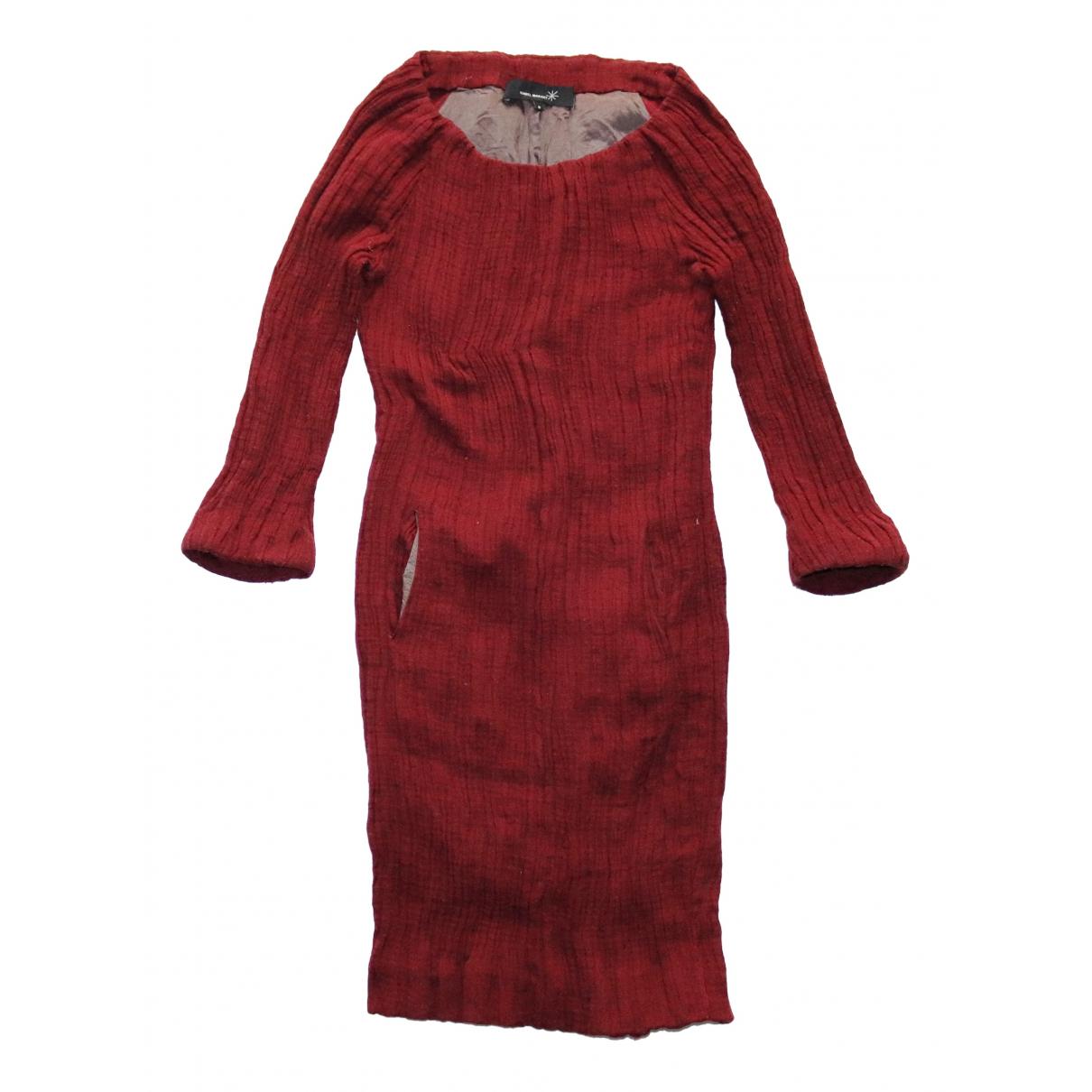 Isabel Marant - Robe   pour femme en coton - bordeaux